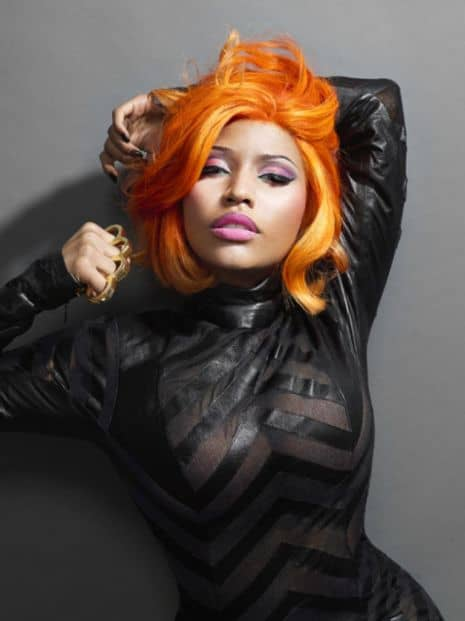 Hairstyles of Nicki Minaj in Fierce Orange 'Do