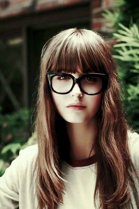 Long bangs with glasses