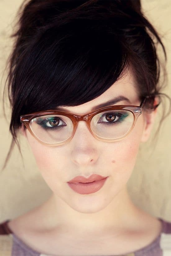 Another great look with bangs and glasses