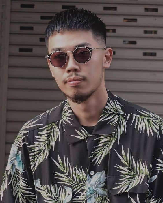 Japanese fade cut style