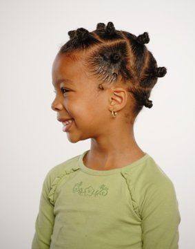 Bantu Knots for African American Girls