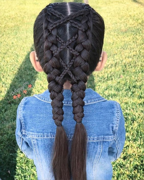 Crisscross Dutch Braid