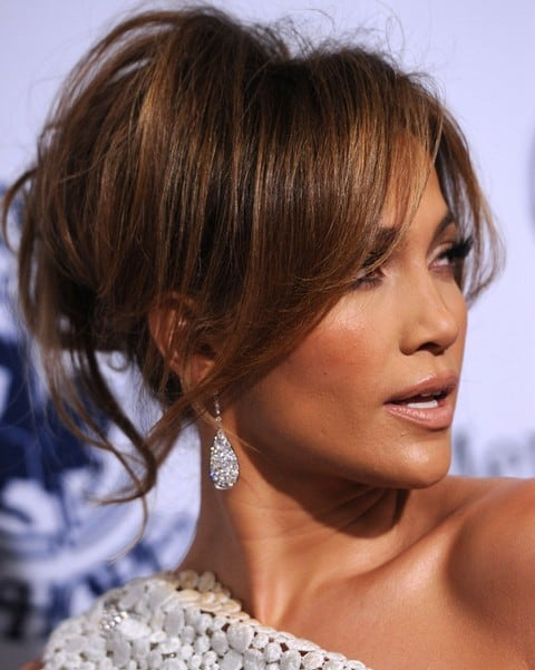 jennifer lopez hairstyles with bangs
