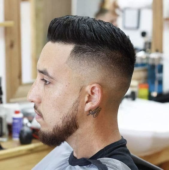 Short Crew Cut with Low Fade