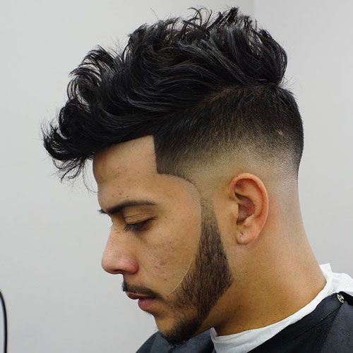 Untidy Pompadour with Low Fade