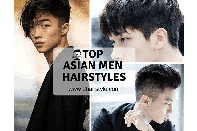Asian Men Hairstyles collage photo