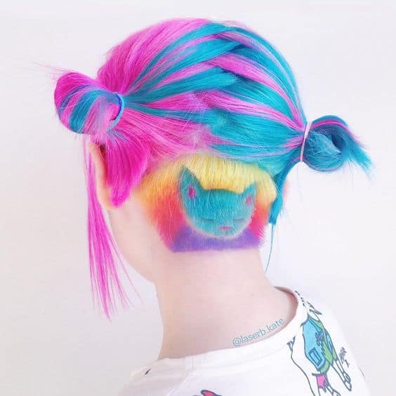 Kitty Design and Two-Tone Hair