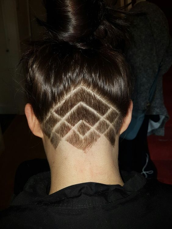 Undercut Hairstyle Women with Intricate Lines