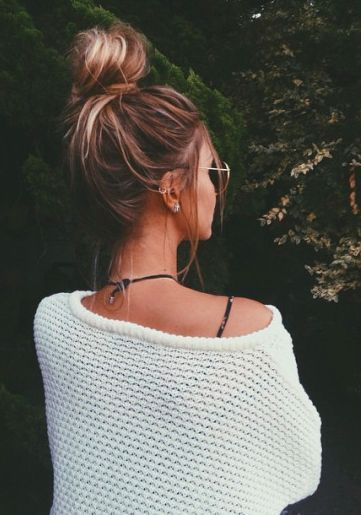 The Perfectly Messy Top Knot