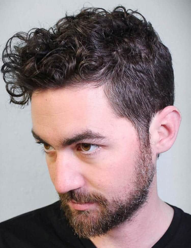 Wavy Hairstyle with Beard