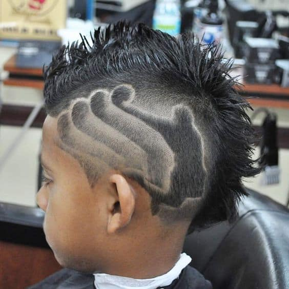 Boy haircuts with designs