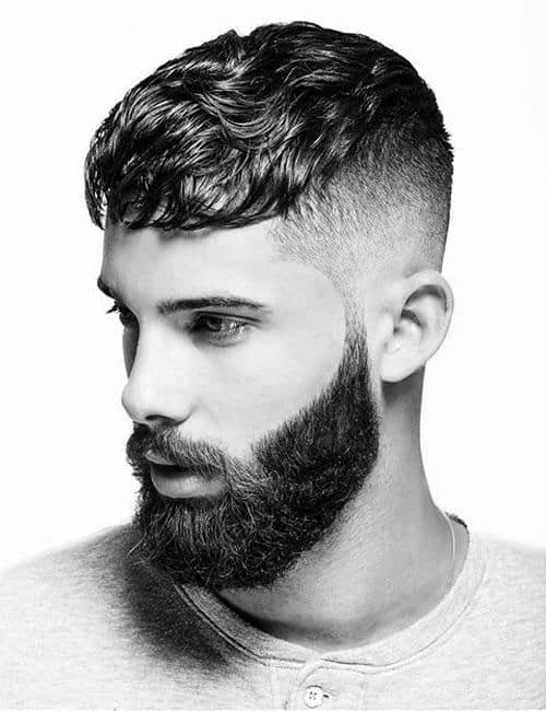 Full Beard + Mid Taper Fade + Cropped Top