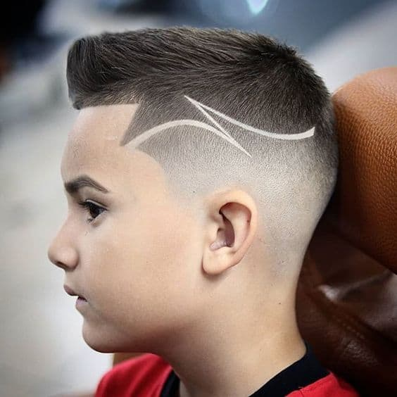 Little boy haircuts designs cute white face