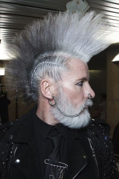 Grey Old Man Punk Hairstyle