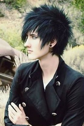Dark Colored Punk Hairstyle